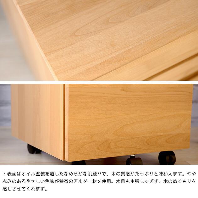 LEGCY レグシー Nワゴン  ワゴン 勉強机 サイドワゴン 机 キッズ家具 キッズファニチャー 日本製 国産家具 杉工場 ナチュラル