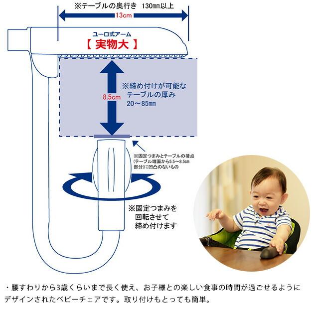 Vita ヴィータ テーブルチェア  ベビーチェア テーブルチェア キッズチェア 持ち運び 取り付け 折りたたみ ユーロ式 ベルニコ ベビー 赤ちゃん