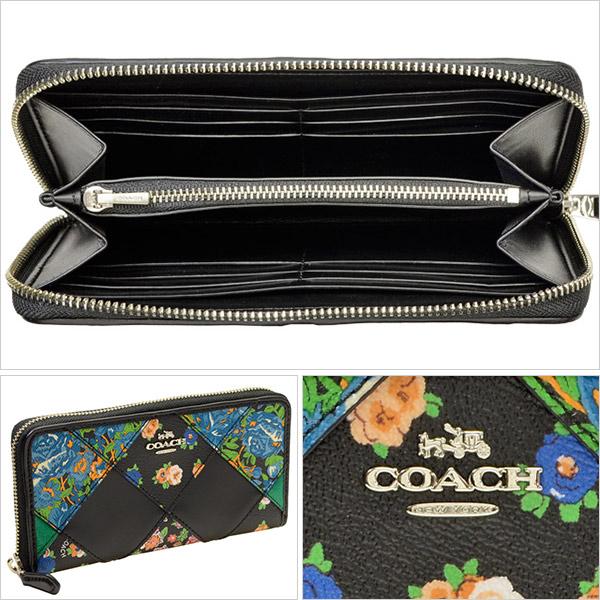 cfcbedb69125 COACH [ サイフ ] 財布パッチワークデザインにフローラルプリントがお洒落なラウンドZIP長財布 です。カードポケットもしっかりとあり、機能面も充実。