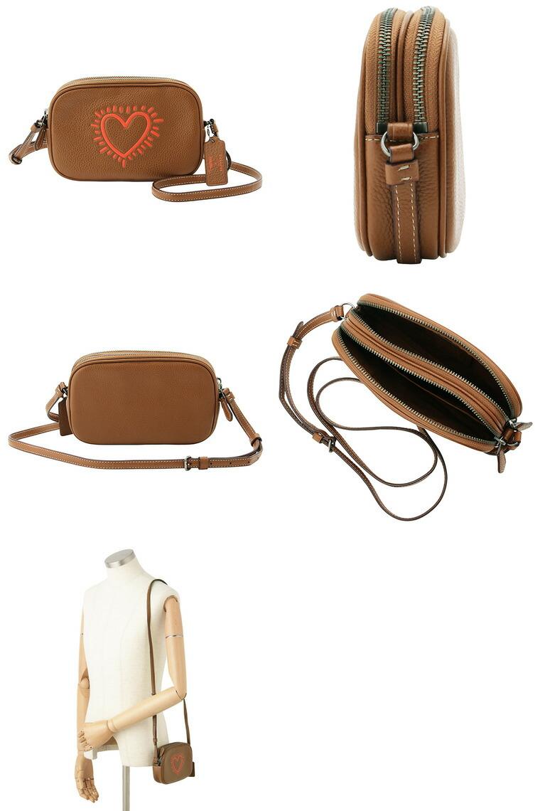 5716d8db16e7 COACH [ カバン ] コーチ鞄『Keith Haring×Coach コラボレーション』メインコンパートメントはファスナー開閉でそれぞれ2つに別れており、財布やスマートフォン、定期や ...