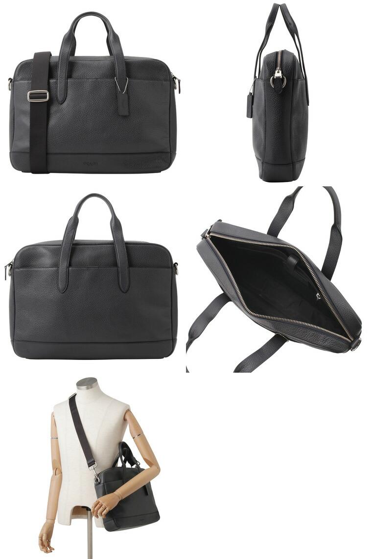 90f6ce236bb1 COACH[カバン]コーチ鞄上質なレザーのビジネスバッグです。雑誌や書類、PCなどもしっかりと収納できる大きめのサイズがビジネス シーンにも大活躍!A4サイズ収納可☆