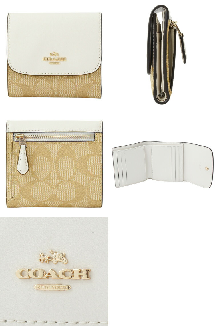 471e932257db COACH[サイフ]コーチ 財布小さめバッグにも収納できる三つ折り財布。シンプルなフラップデザインの小銭入れは広く、使いやすさにもこだわり、 カードポケットも充実。