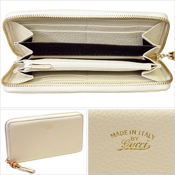 caae4a409388 GUCCI [ サイフ ] 財布フロントにロゴが刻印されたラウンドタイプの長財布です。グッチならではの上質なレザーにバンブーのついたファスナートップが シンプルな ...