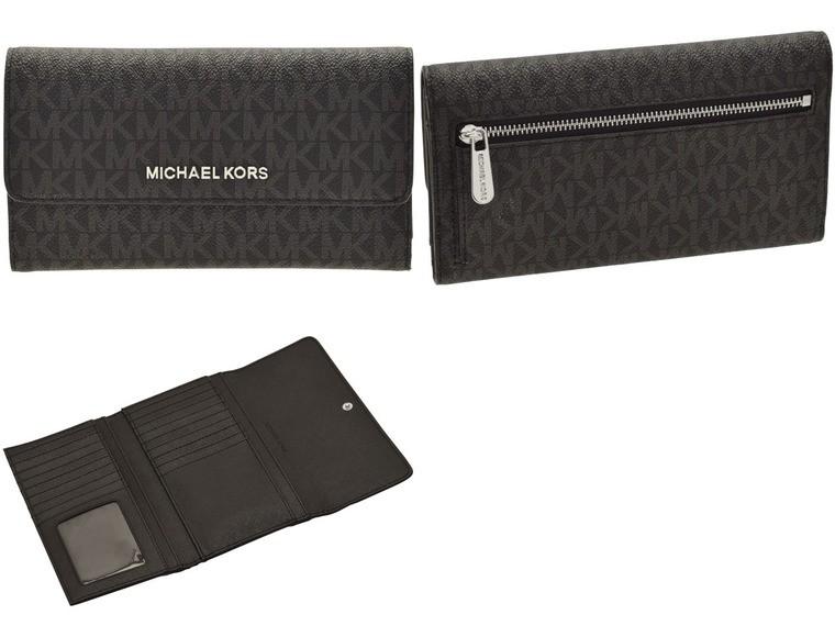 ab3265baef9f マイケルマイケルコース/MICHAEL MICHAEL KORS [ サイフ ] 財布 JET SET TRAVEL LG TRIFOLD  上品なMK柄PVC長財布です。カード類が17枚と大容量収納可能です。