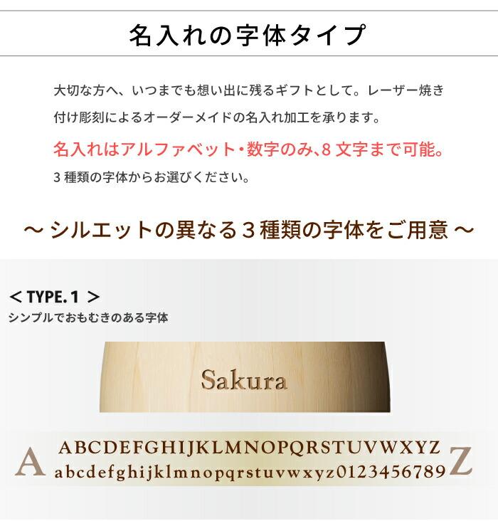 名入れの字体タイプ