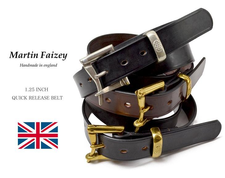 MARTIN FAIZEY (マーティンフェイジー) 1.25インチ(30mm)クイックリリースベルト レザーベルト / 1.25 INCH QUICK RELEASE BELT