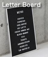 メニューやメッセージなど様々な用途に使えるレターボード。