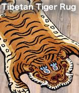 チベタンタイガーラグをモチーフにウールと裏面をコットン素材にて製作。