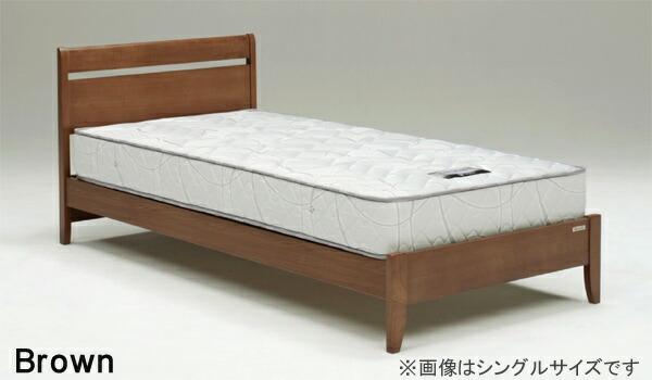 ダブルベッド すのこベッド 3段階高さ調節 ベッドフレームのみ 北欧
