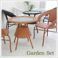 ダイニングテーブルセット ガーデンテーブルセット 3点セット アジアン カフェ IKEA ニトリ 無印好きに人気 05P23Aug15
