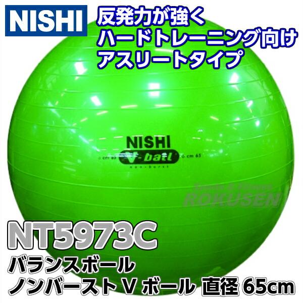 【NISHI ニシ・スポーツ バランスボール】ノンバーストVボール65