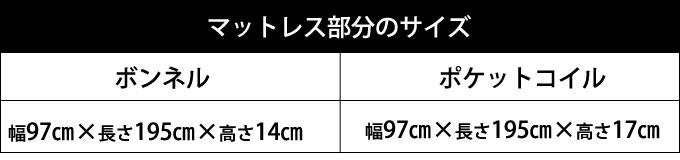 マットレスサイズ