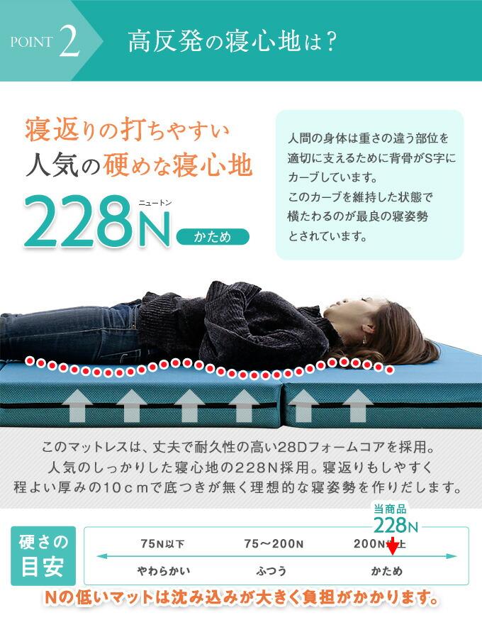 高反発の寝心地
