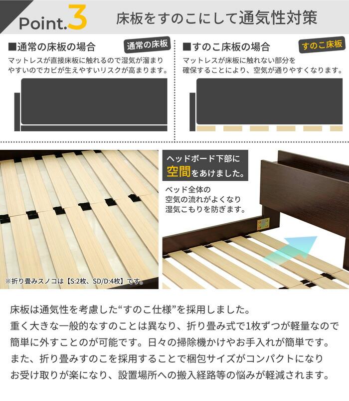 床板をスノコにして通気性対策
