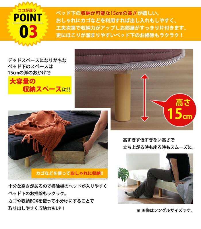 ベッド下に収納可能