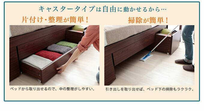 片付け整理が簡単、掃除が簡単