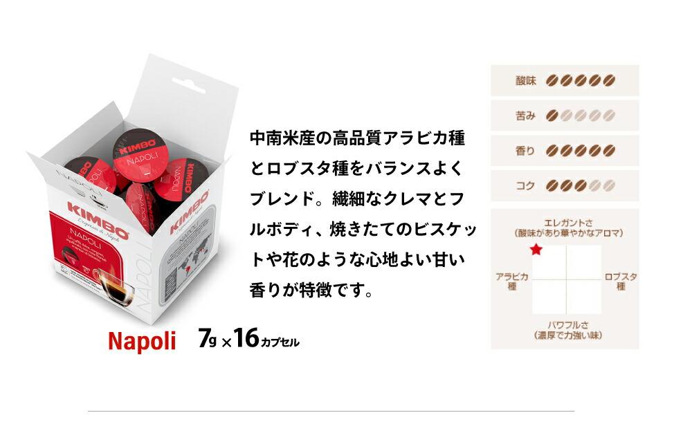 キンボ ドルチェグスト用カプセルコーヒー ナポリ