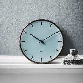 ARNE JACOBSEN wall clock CITYHALL 210mm Royal Blue