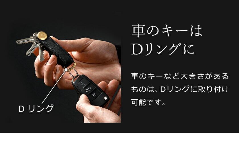 車のキーとまとめられるOrbitkeyのキーオーガナイザー