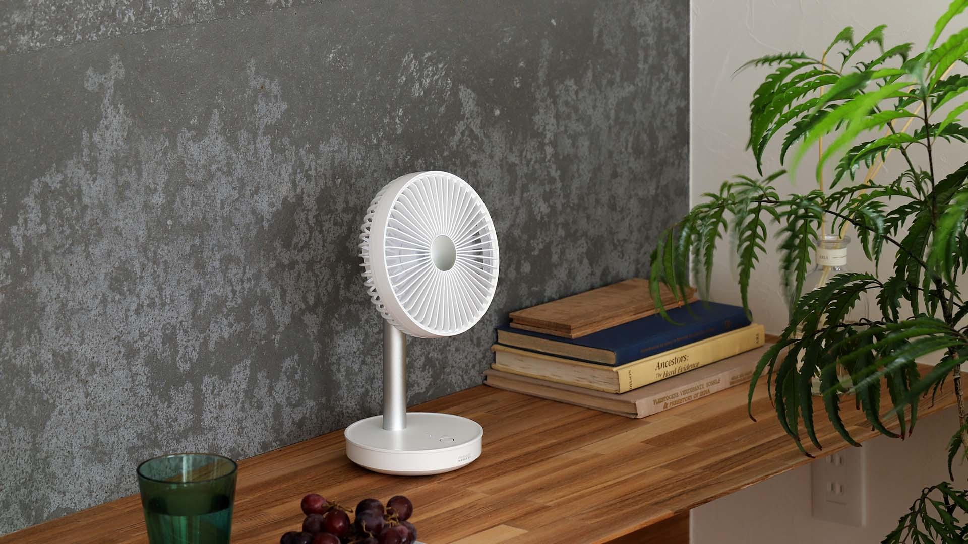 扇風機特集 2021 / インテリアショップroomy | コードレスミニリビングファン PR-F038