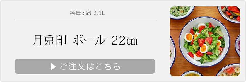 月兎印 ホーローボール 22cm