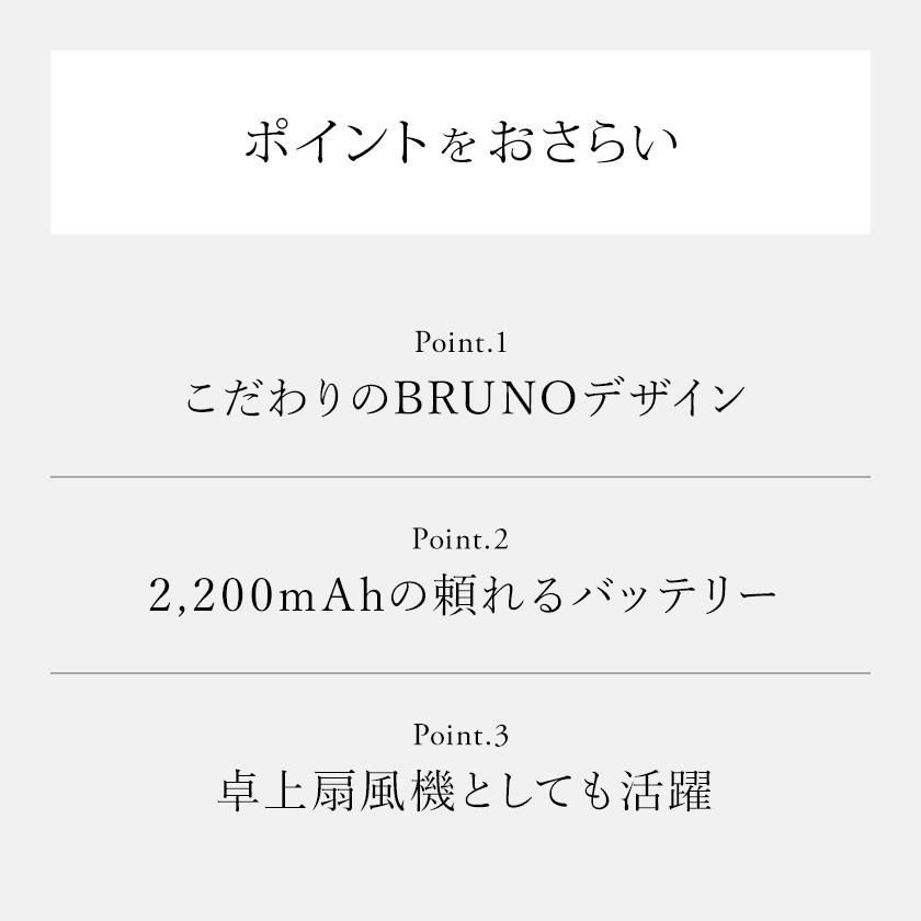 扇風機 BRUNOデザイン