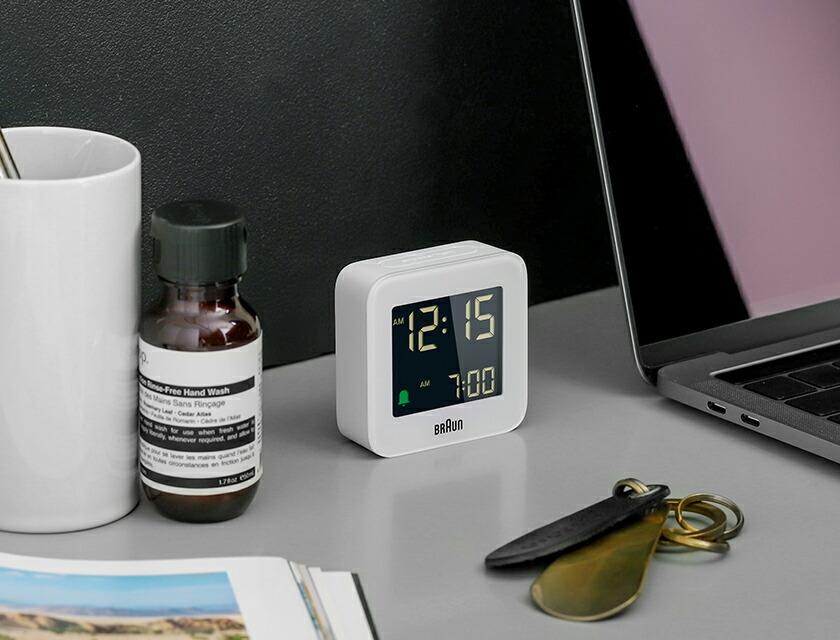 BRAUN Digital travel alarm clock ブラウン デジタルトラベルアラームクロック BC08