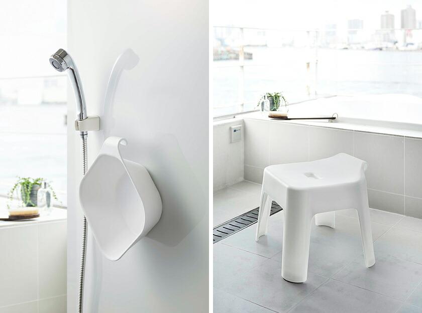 タワー風呂椅子&湯おけのセット