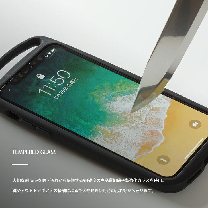 大切なiPhoneを傷・汚れから保護する9H硬度の高品質旭硝子製強化ガラスを使用