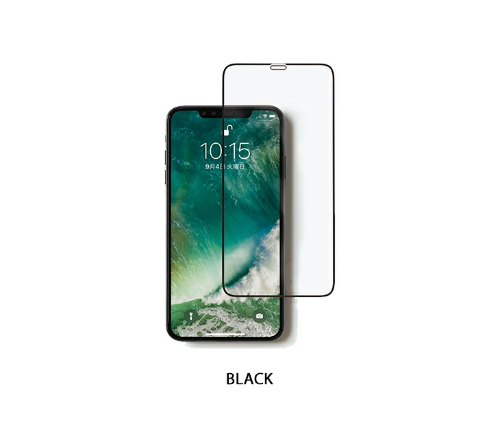 [iPhone XR専用] ROOT CO. GRAVITY Tempered Glass Film (ブラック)