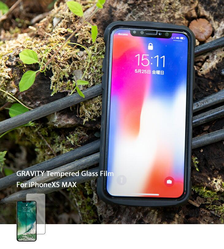 [iPhone XS Max専用] ROOT CO. GRAVITY Tempered Glass Film (ブラック)