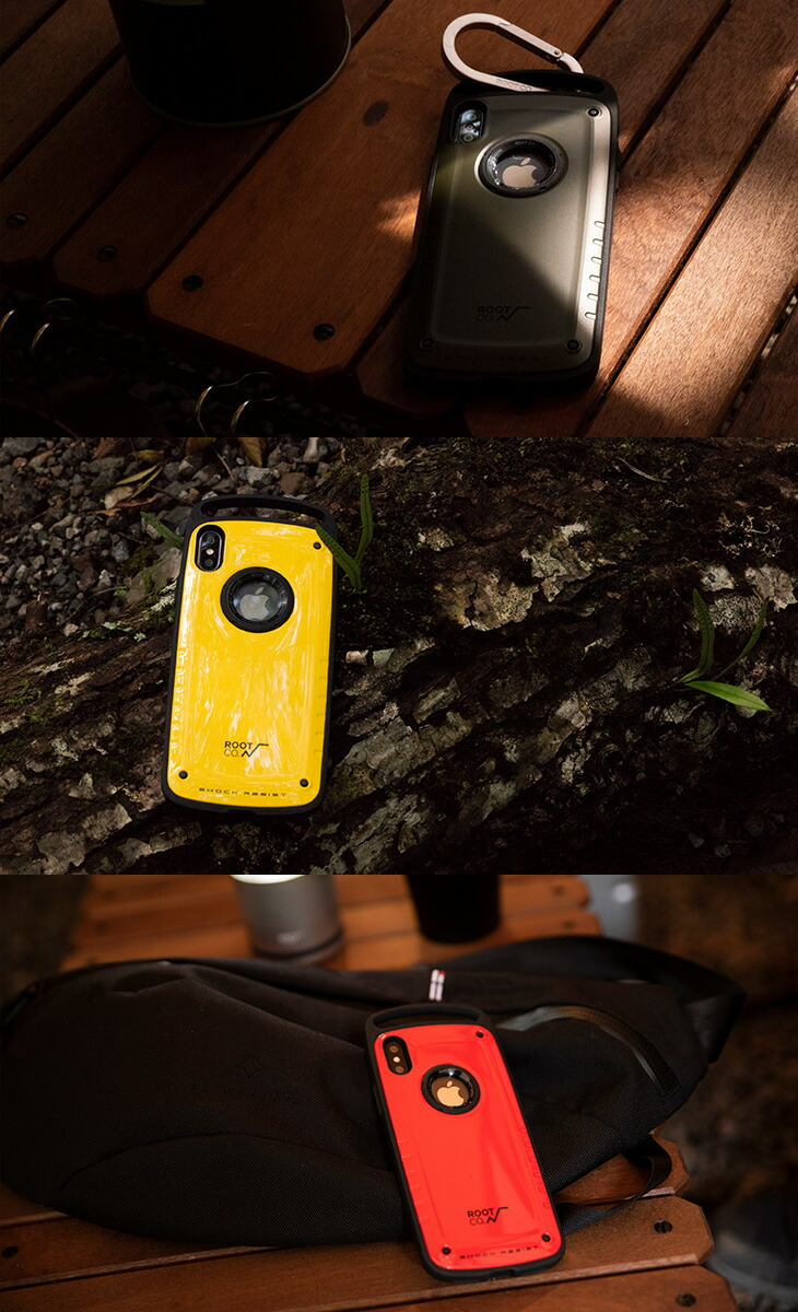 【ROOT CO.】[iPhoneXS Max専用] Gravity Shock Resist Case Pro.