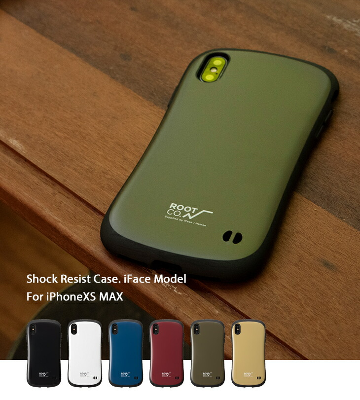 [iPhone XS Max専用]ROOT CO. Gravity Shock Resist Case./ROOT CO.×iFace Model