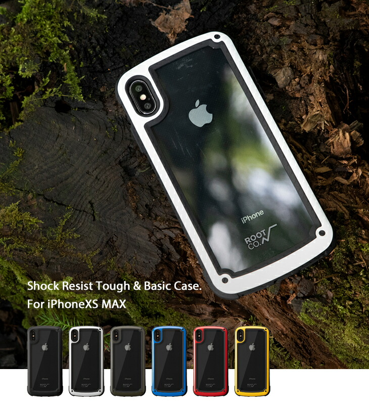 [iPhone XS Max専用]ROOT CO. GRAVITY Shock Resist Tough & Basic Case.