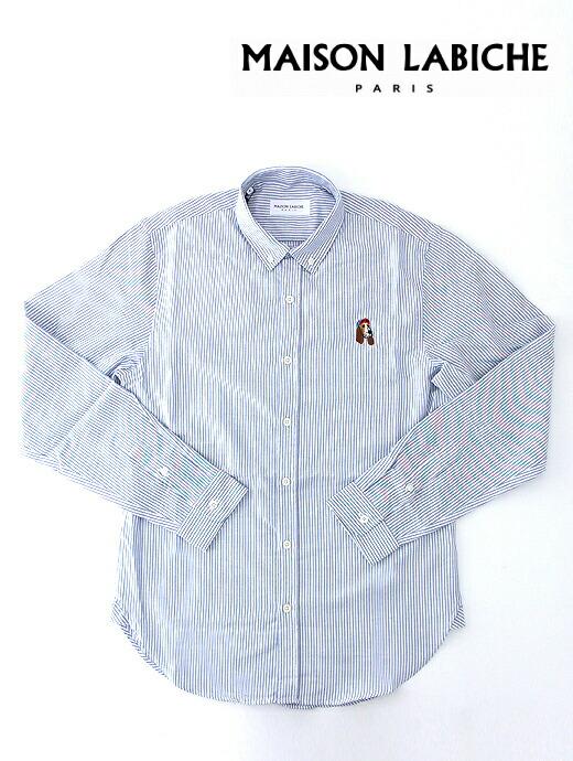 OLD DOGカジュアルシャツ/ミニボタンダウン/オーガニックコットン【MAISON LABICHE/メゾンラビッシュ】