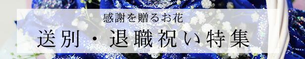 感謝を贈るお花 送別・退職祝い特集