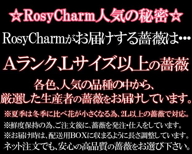 ロージーチャームの薔薇 花束