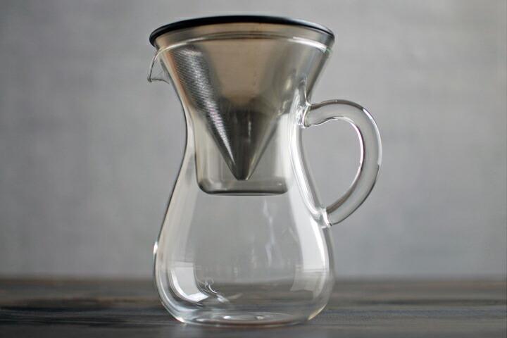 KINTO SLOW COFFEE STYLE キントー ガラス コーヒーカラフェセット ステンレスフィルター