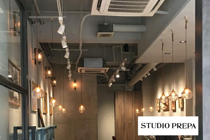 <br /> studio prepa old glass lamp スタジオプレパ オールドガラス ペンダントランプ