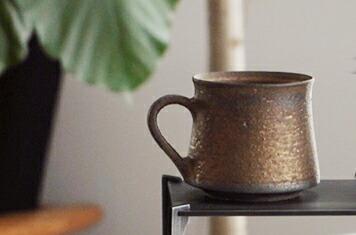 水野幸一 みずのこういち 銅彩釉 マグカップ