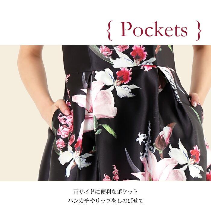 花柄プリントドレス