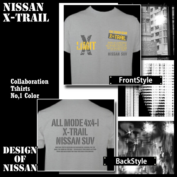 日産 エクストレイル nissann X-Trail デザインTシャツ 半袖 コラボTシャツ メンズ レディース キッズサイズ オフ会 03