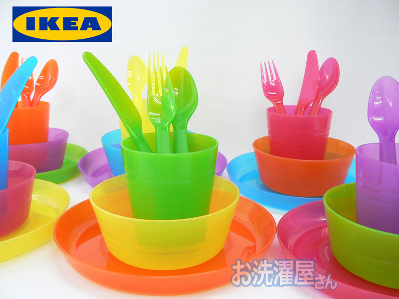 rtor colorful ikea ikea dinnerware set 36 piece set for baby and kids tableware rakuten. Black Bedroom Furniture Sets. Home Design Ideas