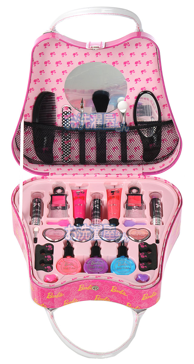 Zipper Makeup Bag/Travel Cosmetic Bags/Brush Pouch Toiletry Kit Fashion Women Jewelry Organizer With carrying handle See Details Product - STARTER KIT with 6 pc BRUSH SET Mineral Makeup Bare Skin Matte Foundation Cover (Light).