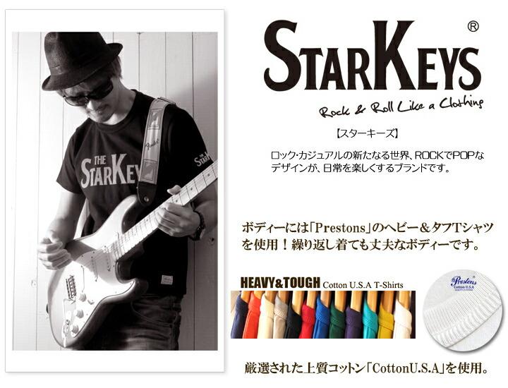 Tシャツ「STARKEYS」バンドTシャツ COTTON USA / 0006