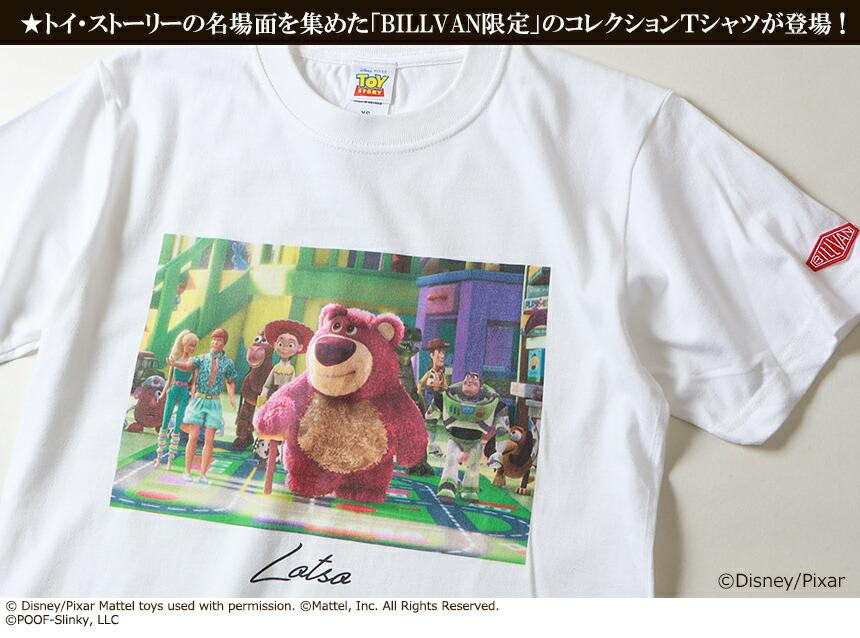 BILLVAN トイ・ストーリー コレクションTシャツ ロッツォ ビルバン トイストーリー TOYSTORY アメカジ