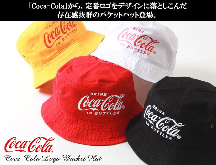 コカ・コーラ ロゴプリントバケットハット COCA COLA