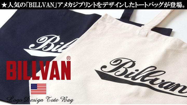 トートバッグ BILLVAN ナチュラル・キャンバス オールドスクールロゴ・トートバッグ