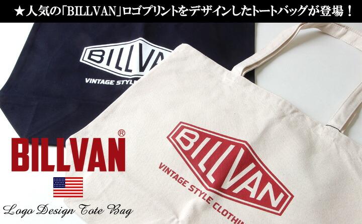 トートバッグ BILLVAN ナチュラル・キャンバス ビッグ・ダイヤロゴ ・トートバッグ