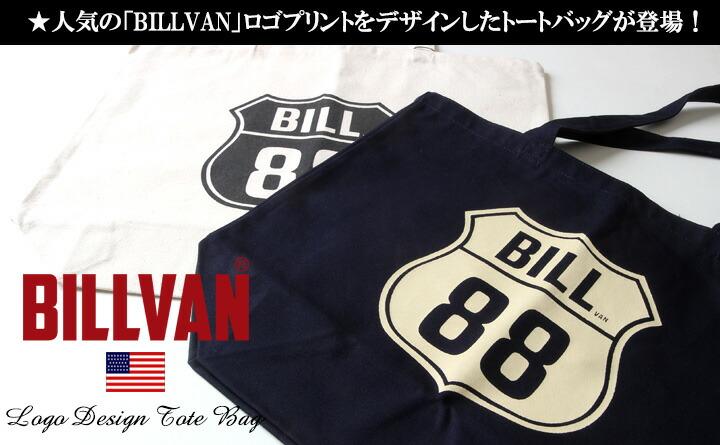 トートバッグ BILLVAN ナチュラル・キャンバス BILL88ロゴ ・トートバッグ